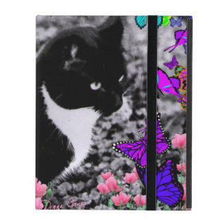 Freckles in Butterflies III, Tux Kitty Cat iPad Cases