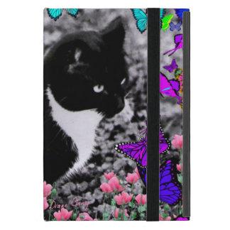 Freckles in Butterflies III, Tux Kitty Cat iPad Mini Cases
