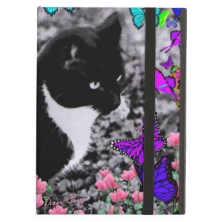 Freckles in Butterflies III, Tux Kitty Cat iPad Air Cases