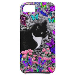 Freckles in Butterflies III, Tux Kitty Cat iPhone SE/5/5s Case