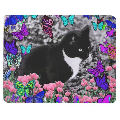 Freckles in Butterflies III, Tux Kitty Cat Journal