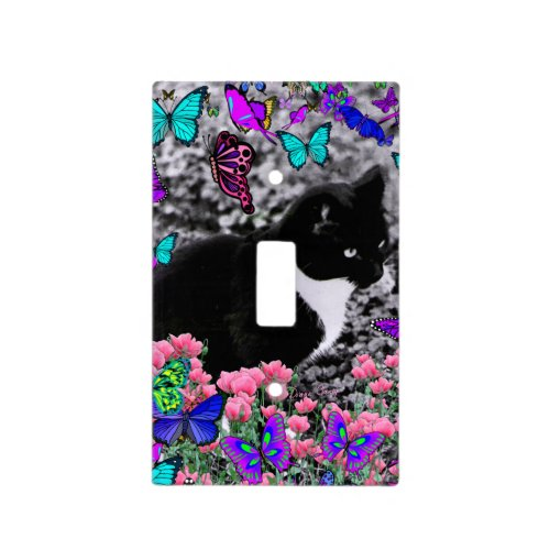 Freckles in Butterflies III, Tux Kitty Cat Light Switch Cover