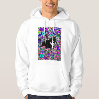 Freckles in Butterflies III, Tux Kitty Cat Sweatshirt