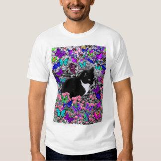Freckles in Butterflies III, Tux Kitty Cat T Shirts