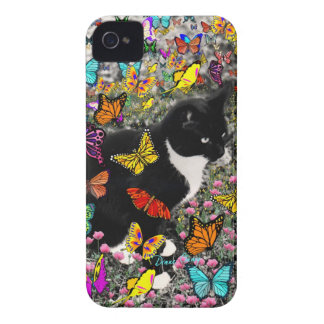 Freckles in Butterflies - Tux Kitty Cat Case-Mate iPhone 4 Case