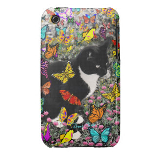 Freckles in Butterflies - Tux Kitty Cat iPhone 3 Case