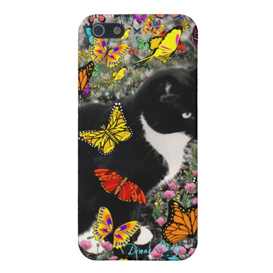 Freckles in Butterflies - Tux Kitty Cat iPhone SE/5/5s Case