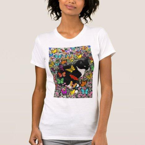 Freckles in Butterflies - Tux Kitty Cat T-Shirt