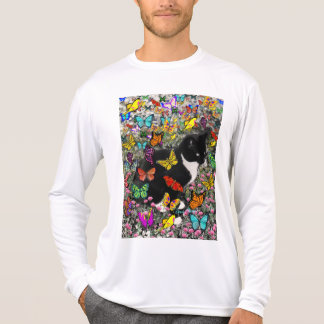 Freckles in Butterflies - Tux Kitty Cat Tee Shirt