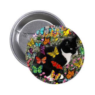 Freckles in Butterflies - Tuxedo Kitty Pins