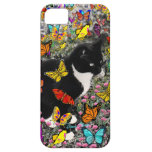 Freckles in Butterflies - Tuxedo Kitty iPhone 5 Covers
