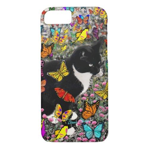 Freckles in Butterflies - Tuxedo Kitty iPhone 8/7 Case