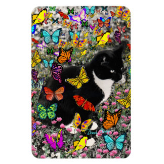 Freckles in Butterflies - Tuxedo Kitty Magnet