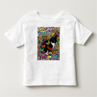 Freckles in Butterflies - Tuxedo Kitty Toddler T-shirt