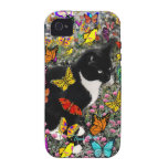 Freckles in Butterflies - Tuxedo Kitty Vibe iPhone 4 Cases