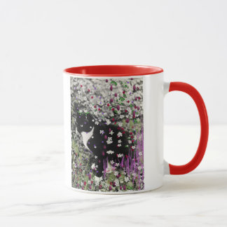 Freckles in Flowers I - Black and White Tux Cat Mug