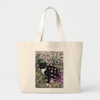 Freckles in Flowers I - Tux Cat Tote Bag