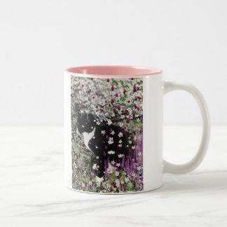 Freckles in Flowers I - Tux Cat Coffee Mug