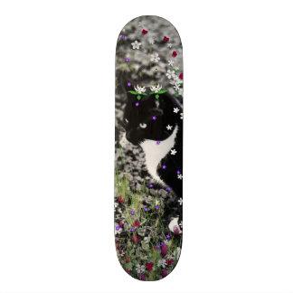 Freckles in Flowers I - Tux Cat Skateboard