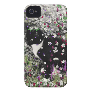 Freckles in Flowers I - Tux Kitty Cat iPhone 4 Case-Mate Case