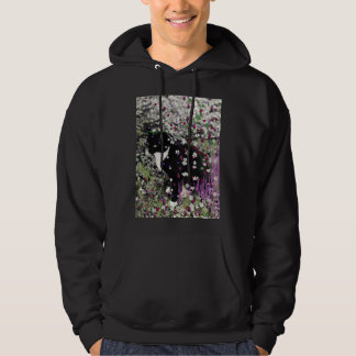 Freckles in Flowers I - Tux Kitty Cat Hoodie