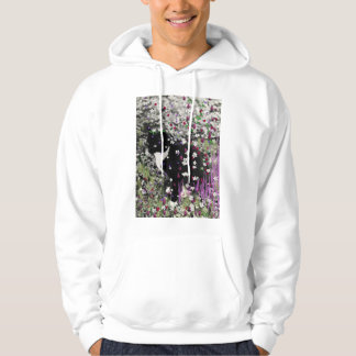 Freckles in Flowers I - Tux Kitty Cat Hoody