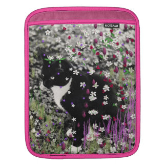 Freckles in Flowers I - Tux Kitty Cat iPad Sleeve