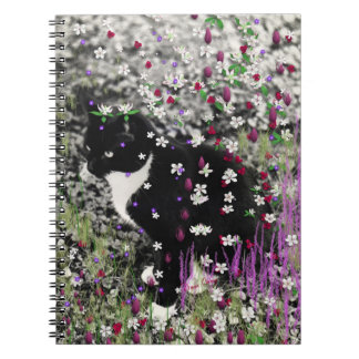 Freckles in Flowers I - Tux Kitty Cat Notebook