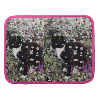 Freckles in Flowers I - Tux Kitty Cat Folio Planners