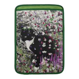 Freckles in Flowers I - Tux Kitty Cat Sleeve For MacBook Air