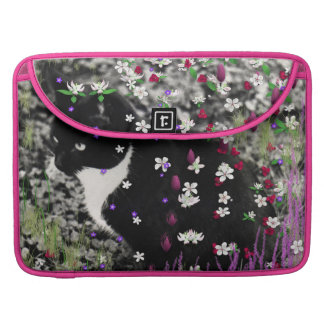 Freckles in Flowers I - Tux Kitty Cat Sleeve For MacBook Pro