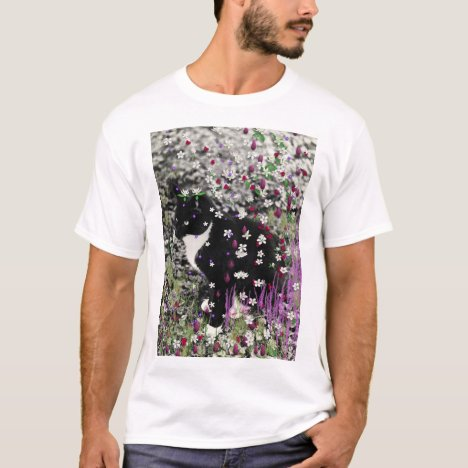 Freckles in Flowers I - Tux Kitty Cat T-Shirt