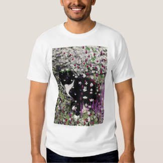 Freckles in Flowers I - Tux Kitty Cat Tee Shirts