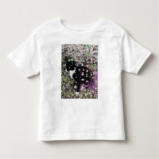 Freckles in Flowers I - Tux Kitty Cat Toddler T-shirt