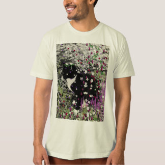 Freckles in Flowers I - Tux Kitty Cat Tshirts