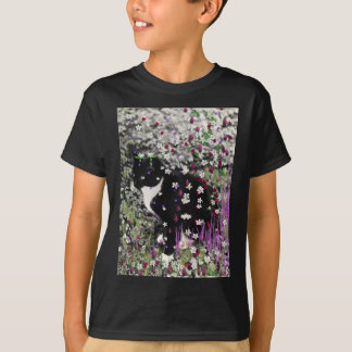 Freckles in Flowers I - Tuxedo Kitty Cat T-Shirt