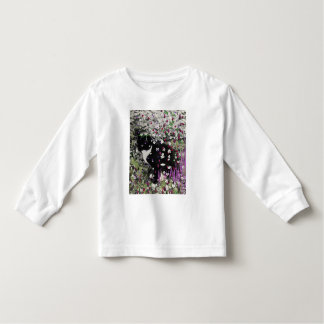 Freckles in Flowers I - Tuxedo Kitty Cat Toddler T-shirt