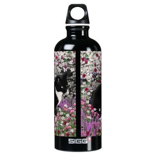 Freckles in Flowers II - Black and White Tux Cat SIGG Traveler 0.6L Water Bottle