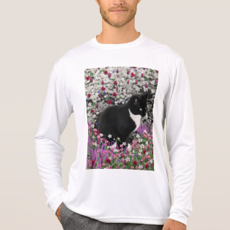 Freckles in Flowers II - Black and White Tux Cat T-Shirt