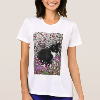 Freckles in Flowers II - Black White Tux Kitty Cat T-Shirt