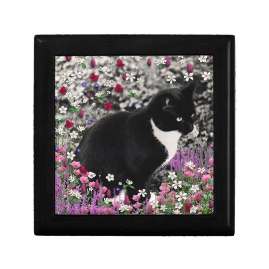Freckles in Flowers II - Black White Tuxedo Cat Gift Box