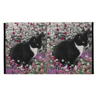 Freckles in Flowers II - Tux Cat iPad Folio Covers