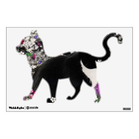 Freckles in Flowers II - Tux Cat Wall Decal