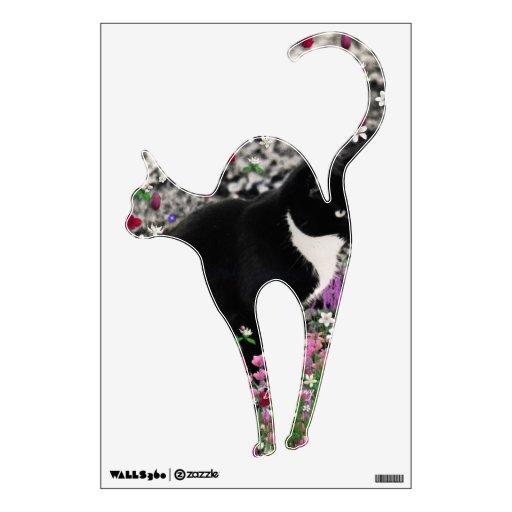 Freckles in Flowers II - Tux Cat Wall Sticker