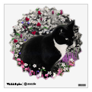 Freckles in Flowers II - Tux Cat Wall Decals