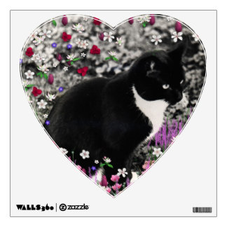 Freckles in Flowers II - Tux Cat Wall Skins