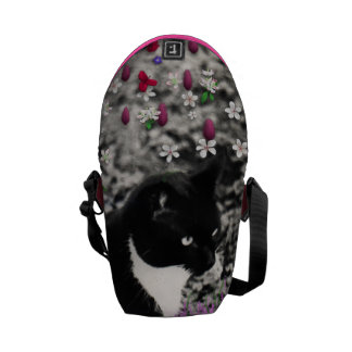Freckles in Flowers II - Tux Kitty Cat Courier Bag