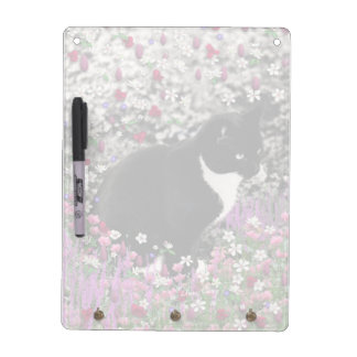 Freckles in Flowers II - Tux Kitty Cat Dry-Erase Board