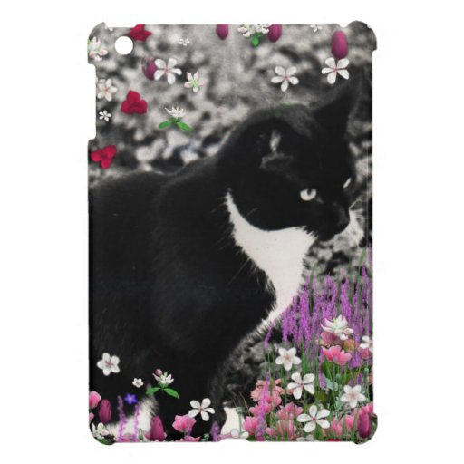 Freckles in Flowers II - Tux Kitty Cat Case For The iPad Mini