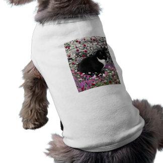 Freckles in Flowers II - Tux Kitty Cat Shirt